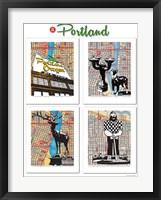 Framed Portland Poster
