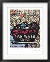 Framed Super Elephant Car Wash Seattle
