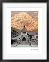 Framed Historic Timberline Lodge Oregon