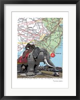 Framed Jersey Shore Lucy Margate Elephant