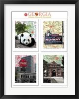 Framed Georgia Poster