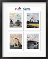 Framed Big St. Louis Poster