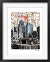 Framed Kansas City Skyline
