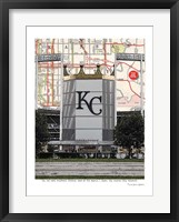Framed Kaufman Stadium