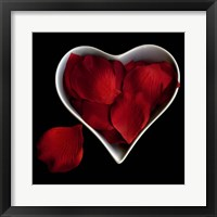 Framed Love Overflowing - Heart Valentine Petals