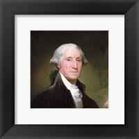 Framed George Washington, 1795 -Detail