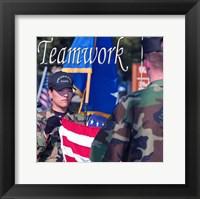 Framed Teamwork Affirmation Detail
