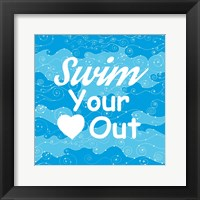 Framed Swim Your Heart Out - Sporty