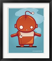 Framed Retro Robot Orange