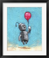 Framed Robot With Red Balloon