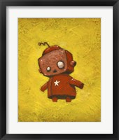 Framed Red Robot Star
