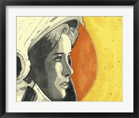 Framed Lady Astronaut
