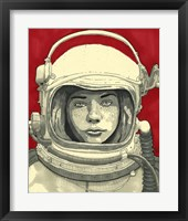 Framed Lady Cosmonaut