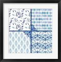 Framed Blue Patterns