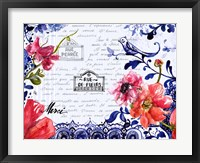 Framed Sophisticated Flowers I