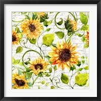 Framed Sunflower Pattern I