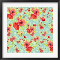 Poppy Pattern II Framed Print