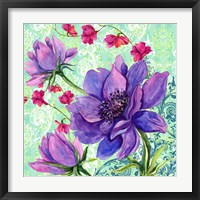 Bright Florals II Framed Print