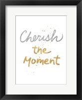 Framed Cherish On White