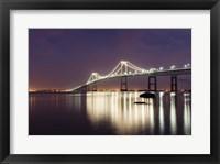 Framed Dusk over Newport Bridge