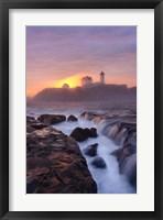 Framed Lighthouse On Fire