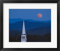 Framed Moon Over Vermont Hills