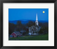 Framed Moonrise Over Peacham