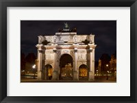 Framed Arc de Triomphe du Carrousel