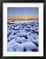 Framed Snowy Pebbles