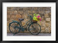 Framed Green Bicycle
