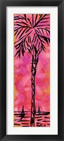 Framed Pink Palm