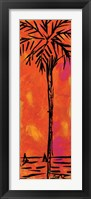Framed Orange Palm