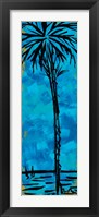 Framed Blue Palm