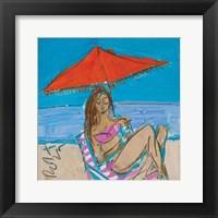 Framed Orange Umbrella