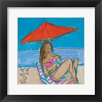 Framed Orange Umbrella