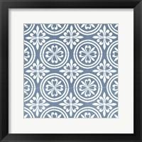 Chambray Tile II Framed Print