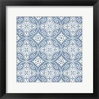 Chambray Tile IV Framed Print