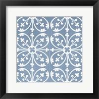 Chambray Tile VI Framed Print