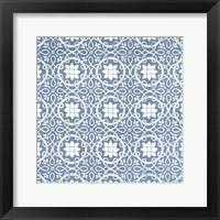 Chambray Tile VII Framed Print