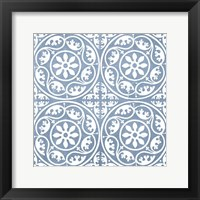Chambray Tile VIII Framed Print