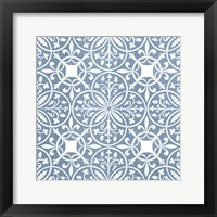 Chambray Tile IX Framed Print