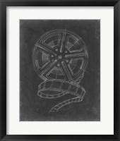 Film & Reel Blueprint I Framed Print