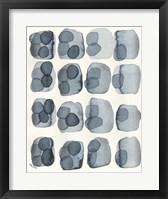 Indigo Four Framed Print