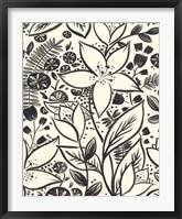 Brushstroke Blossoms I Framed Print