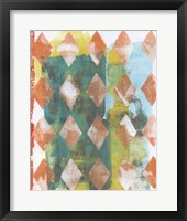 Harlequin Abstract III Framed Print