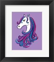 Framed Horse - Purple