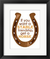 Framed Horseshoe Quote 1