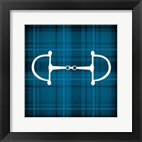Framed Horse Bit - Blue Checkered