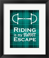 Framed Riding is My Sweet Escape - Green