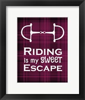 Framed Riding is My Sweet Escape - Red